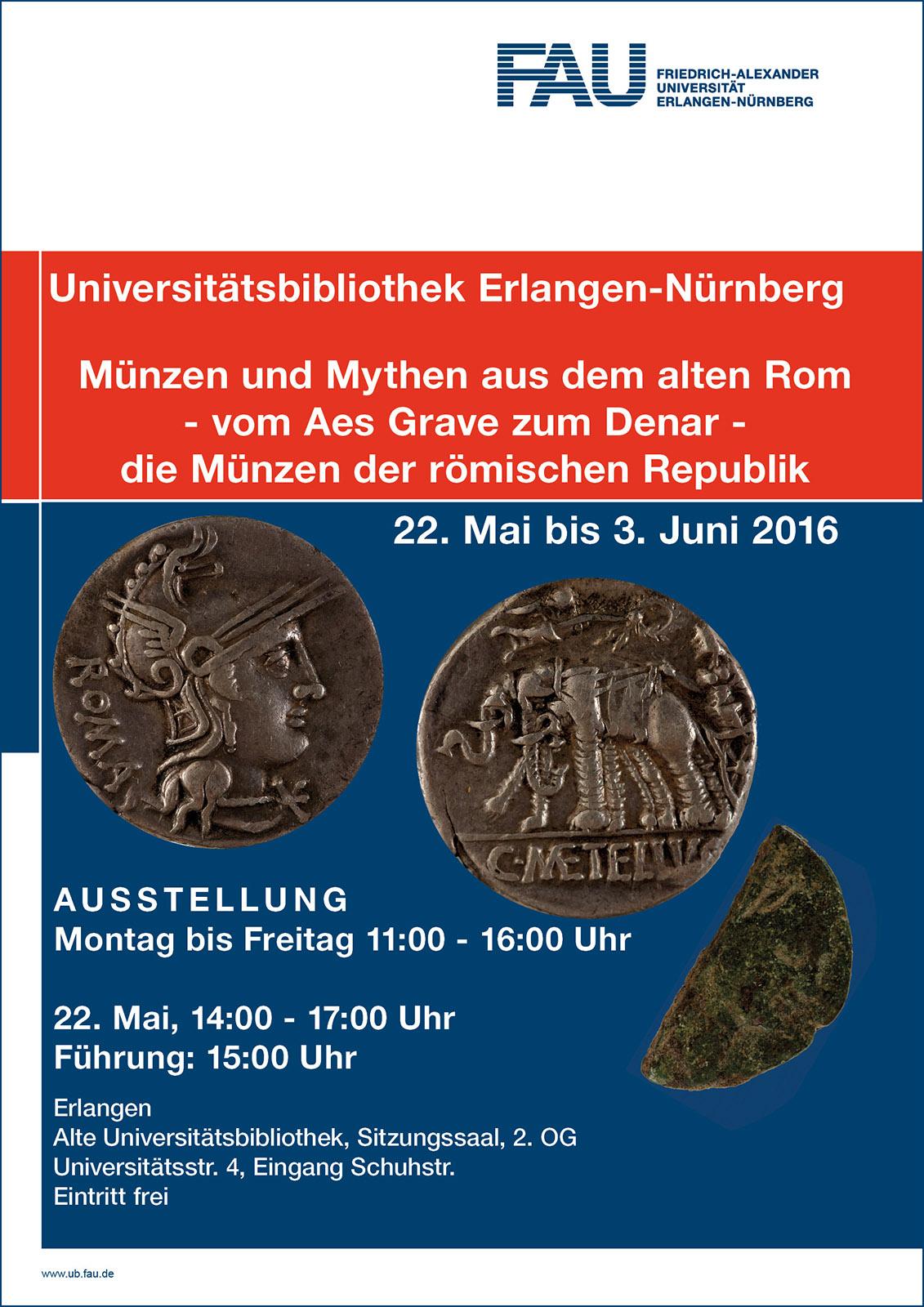 Münzen und Mythen Ausstellung UB