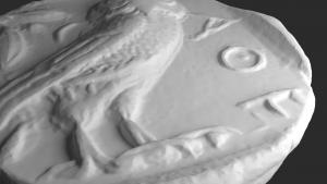 3-D Modell Tetradrachme Athen