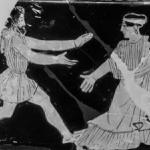 Boreas und Oreithyia in schwarz-weiß