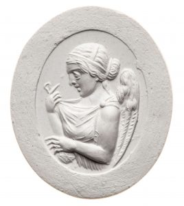 Nemesis. Maße: 25,3x21,2 mm. Original: Jaspis, ziegelrot, frühes 1. Jh. n. Chr. Berlin SMB 32.237,36. Literatur: Weiß 2007, 185 Nr. 208 Taf. 30.