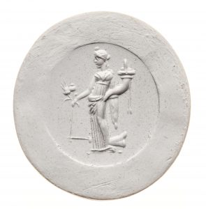 Fortuna. Maße: 26x24,4 mm. Original: Karneol. Ende 1. Jh. v./1. Jh. n. Chr. Berlin SMB 32.237,197. Literatur: Weiß 2007, 181 Nr. 197 Taf. 28.